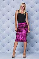 Велюровая юбка - футляр бордо