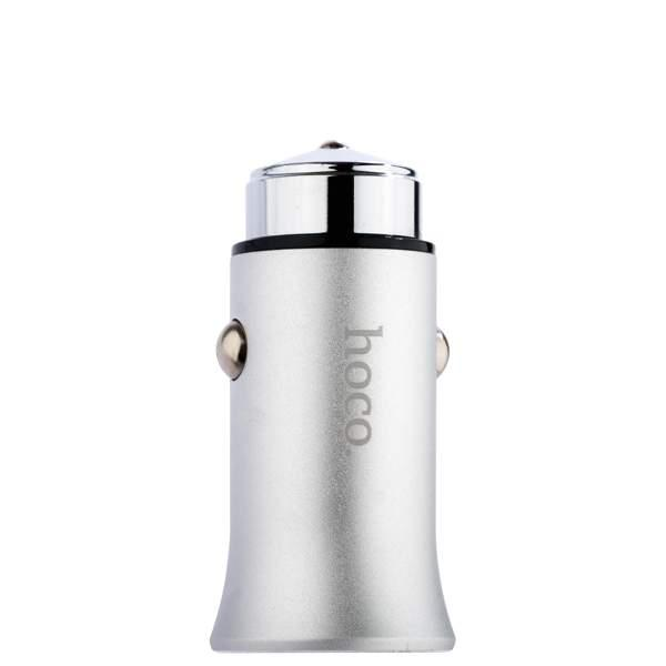 Автомобильное зарядное Hoco Z8 Titan Silver 2.4A