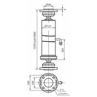 Гидроцилиндр подьема платформы (кузова) самосвалов КАМАЗ 3-х штоковый