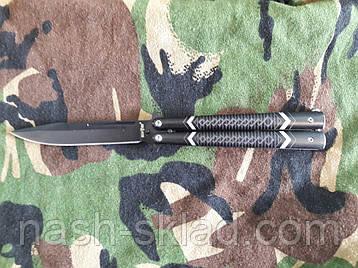 Нож бабочка Балисонг, подарок для парня, удобный и практичный, фото 2