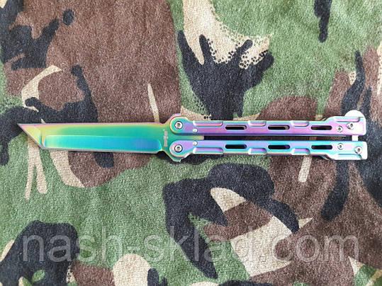 Нож бабочка Хамелеон Танто, подарок для парня, удобный и практичный, фото 2