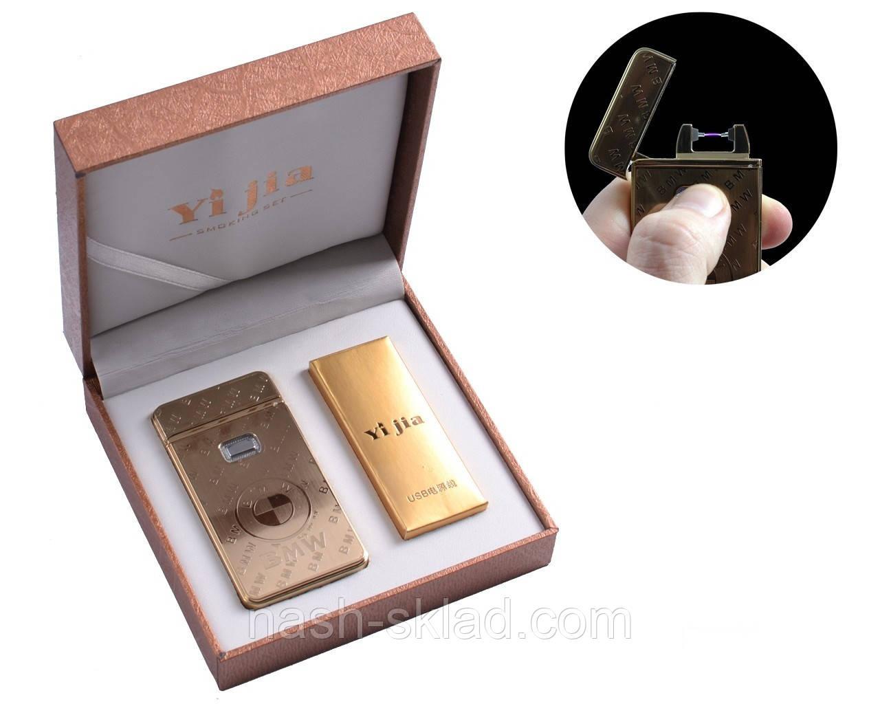 """Электроимпульсная USB - зажигалка в подарочной упаковке """"BMW"""""""