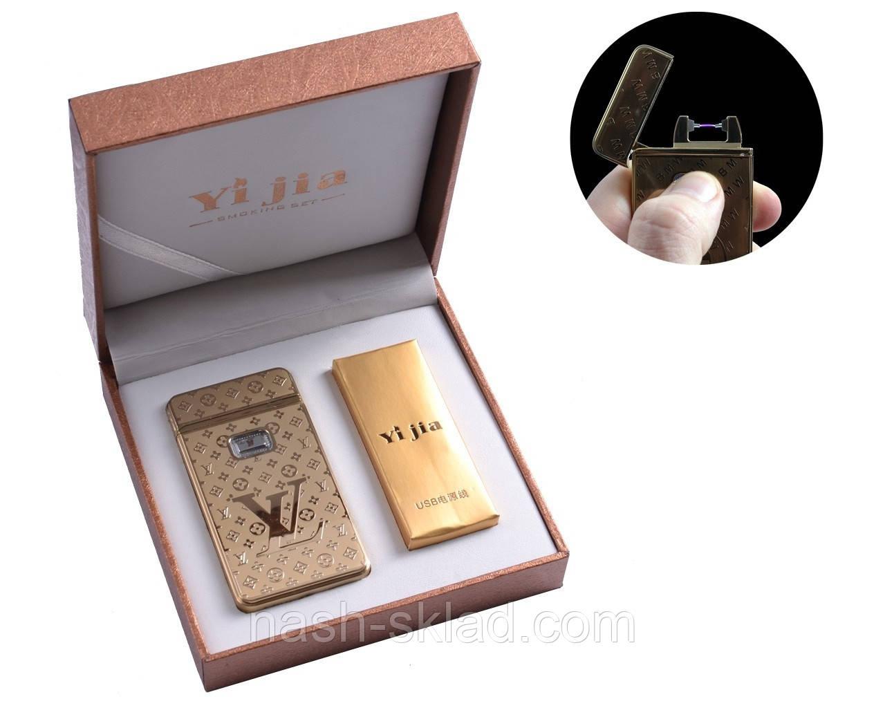"""Электроимпульсная USB зажигалка в подарочной упаковке """"Louis Vuitton"""""""