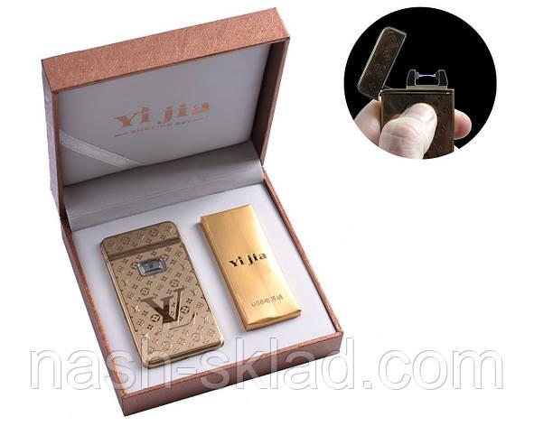 """Электроимпульсная USB зажигалка в подарочной упаковке """"Louis Vuitton"""", фото 2"""