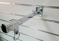 Полкодержатель хром.в экономпанель 35 см.