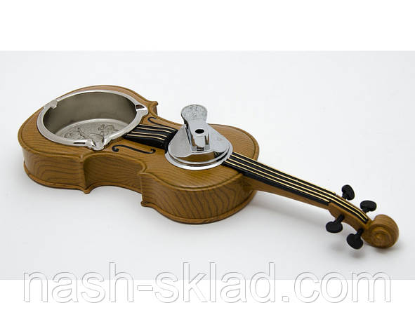 Зажигалка Скрипка с пепельницей, фото 2
