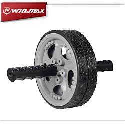 Ролик Win Max для вправ пластиковий чорний/сірий (31065)