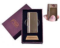 USB зажигалка в подарочной упаковке с фонариком + фонарик с ультрафиолетом (Спираль накаливания)