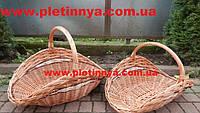 Набор корзин для дров из цельной лозы 2 шт