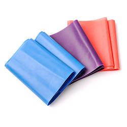 Гума для фітнесу Meteor 3шт синій/фіолетовий/червоний (31150)