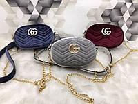 Модная сумка-ремень на пояс или через плечо Gucci Гуччи велюр выбор цветов