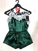 Новинка,комплект атласный майка и шорты, фото 1