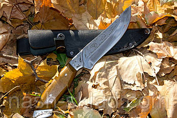 Кожаный чехол для охотничьего ножа, телячья кожа, фото 2