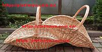 Набор корзин для дров из колотой лозы