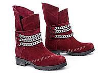 Ботинки женские зимние замшевые  V 988