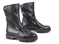 кожаные зимние ботинки   V 1049