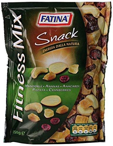 Микс орехов и сухофруктов Fatina Snack Fitness Mix с папайей и ананосом, 150 г. Италия