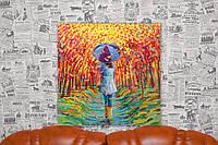 Девушка с зонтом. Айрис Скотт. Iris Scott. 50х50 см. Репродукция.