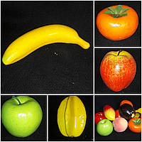 Желтый банан, пенопласт, муляж, 20/16 (цена за 1 шт. + 4 гр.)
