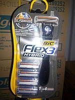 Бритва BIC Flex Hybrid с 4 сменными кассетами