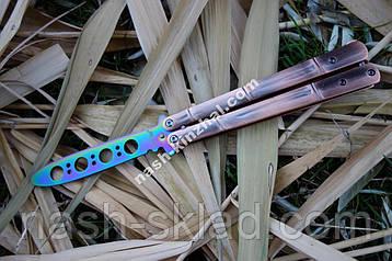 Нож бабочка тренировочный для флиппинга Хамелеон, балисонг, супер подарок , фото 2