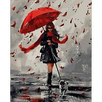 """Картины по цифрам """"Прогулка в дождливый день"""" 40х50см, С Коробкой"""