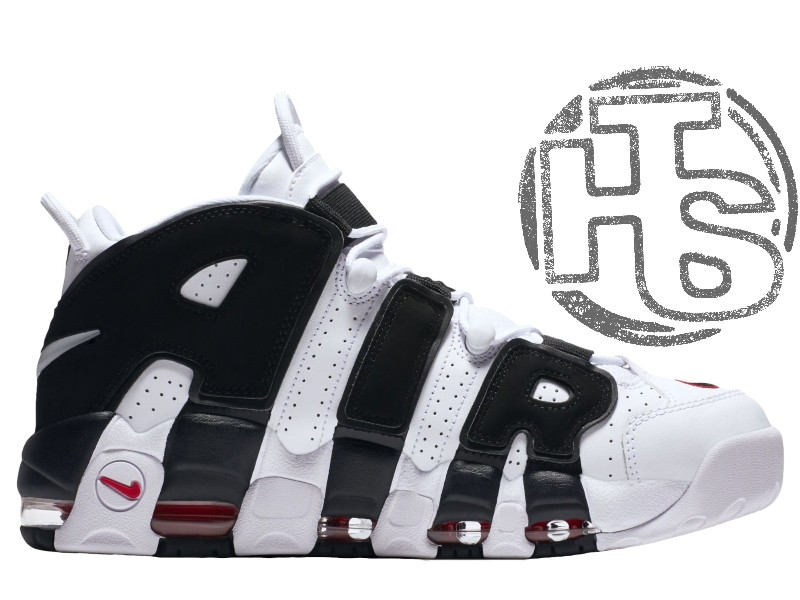 Мужские кроссовки Nike Air More Uptempo White/Black/Varsity Red 414962-105