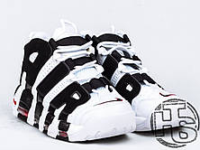 Мужские кроссовки Nike Air More Uptempo White/Black/Varsity Red 414962-105, фото 3