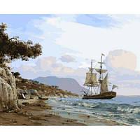 """Картина раскраска по номерам """"Высадка на берег"""" набор для рисования"""