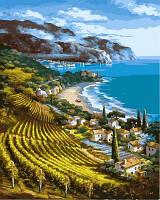 """Картина раскраска по номерам """"Виноградники у моря"""" набор для рисования"""