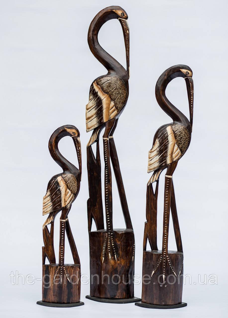 Семья аистов на подставке (100, 80 и 60 см)
