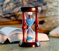 Песочные часы синий песок 90 секунд (6,7х6,7х11,2 см)