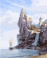 """Картина раскраска по номерам """"Скалистые берега"""" набор для рисования"""