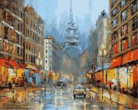 "Картины по цифрам ""Париж в сиянии фонарей"" [40х50см, С Коробкой]"