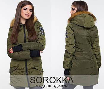 Зимняя куртка с митенками