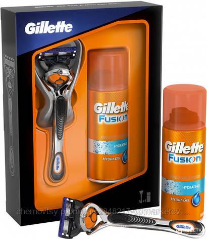 Подарочный набор Gillette ProGlide Flexball с 1 сменной кассетой и гель для бритья бритья Hydra gel 75 мл , фото 2
