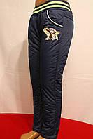 Мальчуковые синие балоневые штаны на флисе зимние от 3 до 8 лет на рост 98-128см. Польша...