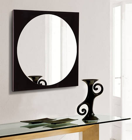Зеркало черное 600х600