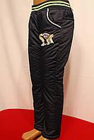 Темно-синие балоневые штаны на флисе для мальчиков зимние от 3 до 8 лет на рост 98-128см. Польша.