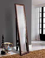 Зеркало напольное с опорой 1650х400 черно-серое
