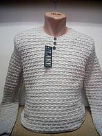 Мужской теплый светлый свитер. Джемпер молодежный