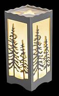 Фонарь с LED подсветкой декоративный Елки Luca