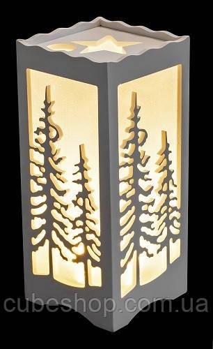 Фонарь с LED подсветкой декоративный Елки Luca - CubeShop - подарки и подарочная упаковка в Киеве