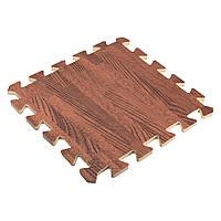 9 штук 30x30 Квадрат EVA Пена Дерево Зерно Блокировка Плитки Дети Упражнение Игральные коврики