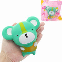 12см зеленый Squishy мини милый крыса медленный рост Soft Squishy животных коллекция подарков декора игрушка