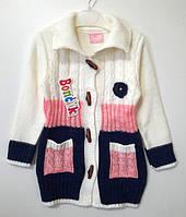 Кофта на пуговицах для девочки (5-10 лет)
