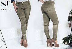 Стильные приталенные брюки со средней посадкой