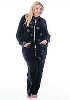 Женский велюровый костюм большого размера