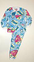 Пижама махровая на мальчика 32 р голубая