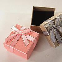 Подарочная коробочка для украшений маленькая 24 шт. Ассорти цветов матовые [5/5/4 см]